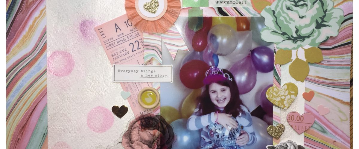 How to do a Scrapbook Layout in 5 easy steps